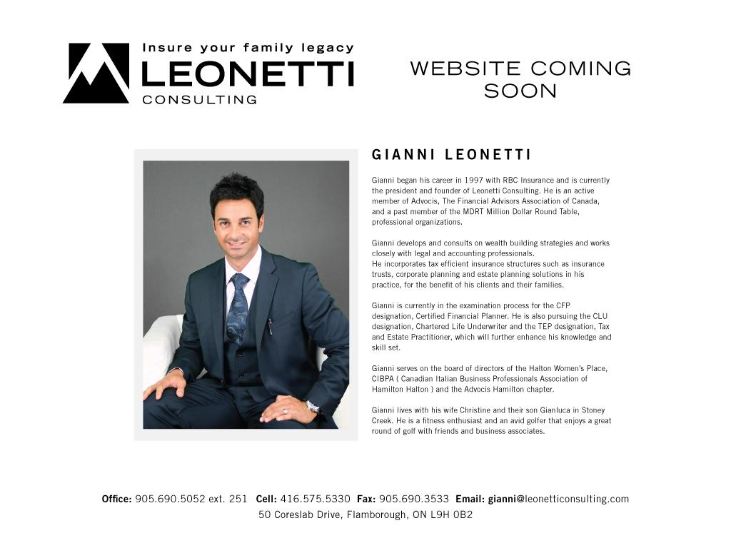 Million Dollar Round Table Canada Leonetti Consulting